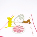 Playful Kittens Pop Up Birthday Card