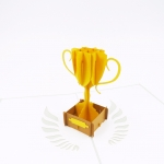 Golden Trophy Congratulation Card