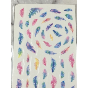 Pastel Feathers Water Decals