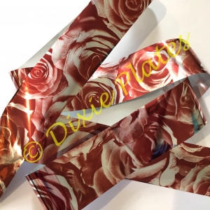 Burgundy Rose Nail Art Foil - 1 Meter