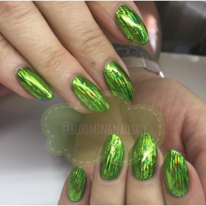Laser Light Lime Nail Art Foil - 1 Meter
