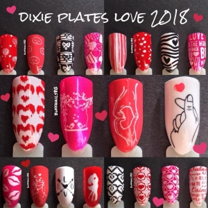 Dixie Plates Love 2018 Plate