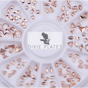 Rose Gold 3D Matte Embellishments