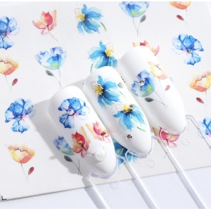 Blue Poppy Water Decals