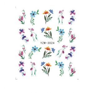Meadow Flowers Water Decals