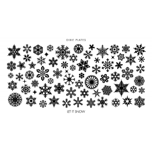 Dixie Plates Let It Snow Mini Plate