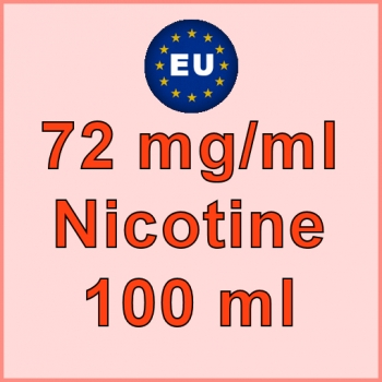 100ml - 72mg/ml EU Manufactured Nicotine