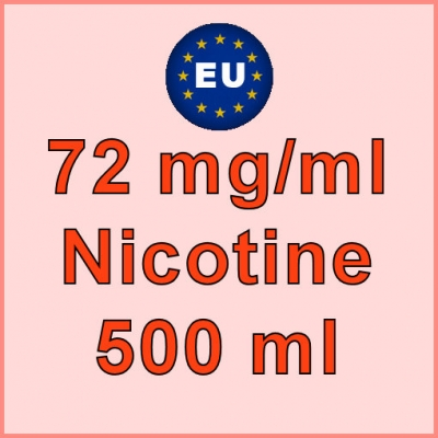 500ml - 72mg/ml EU Manufactured Nicotine