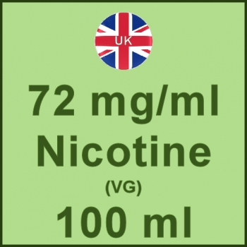 100ml - 72mg/ml UK Manufactured Nicotine in VG