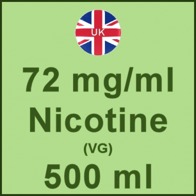 500ml - 72mg/ml UK Manufactured Nicotine in VG