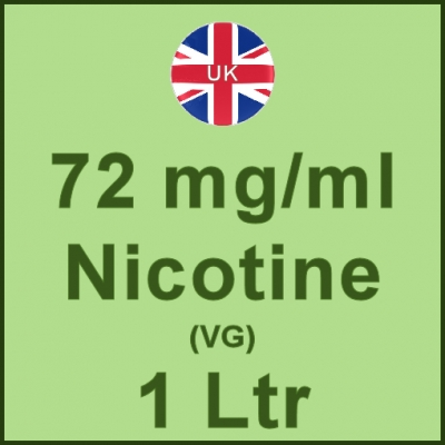 1 Ltrl - 72mg/ml UK Manufactured Nicotine in VG