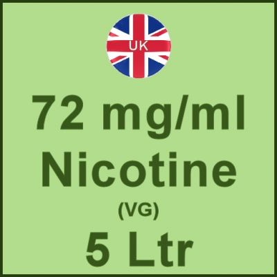 5 Ltrl - 72mg/ml UK Manufactured Nicotine in VG