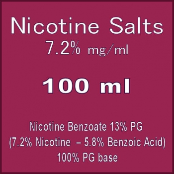 Nicotine Salts 72MG 100ml