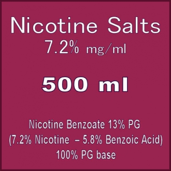 Nicotine Salts 72MG 500ml