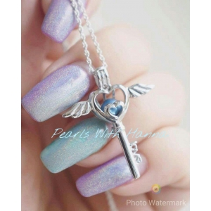 Angel Wings Cage Keyring