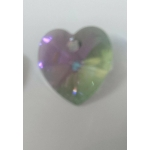 Swarovski® 14mm Rainbow Heart Crystal Pendant