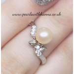Diamante Leaf Ring