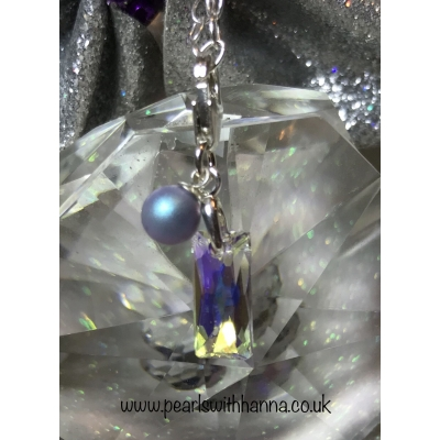 *NEW* Mirror Rectangular Crystal Charm