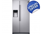 SAMSUNG SIDE BY SIDE PLUMBED ICE & WATER FRIDGE ..
