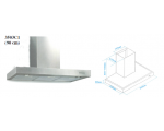 ATLAN CAMINO 90CM CHIMNEY HOOD