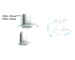 ATLAN CAMINO 60CM CHIMNEY HOOD