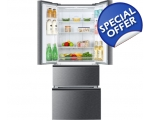 HAIER FRENCH STYLE SLIM SIDE BY SIDE FRIDGE FREE..
