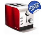 MORPHY RICHARDS ACCENTS 2 SLICE TOASTER - RED