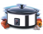 MORPHY RICHARDS 6.5LT SLOW COOKER STAINLESS STEEL