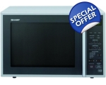 SHARP 40LT 900W GRILL AND MICROWAVE SILVER R959S..