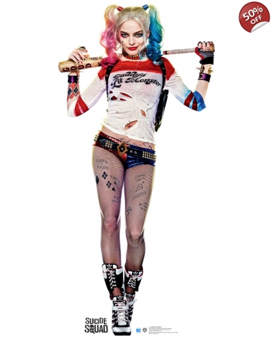 Harley Quinn Cardboard Cutout - BEST PRICE - CHEAP HARLEY QUINN STANDUP - Suicide Squad