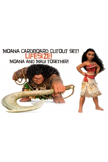 Moana and Maui Lifesize Card..