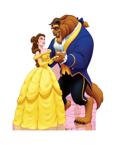 Beauty and The Beast Cardboard Cutout - BEST PRICE - Lifesize Standup Beauty and the Beast