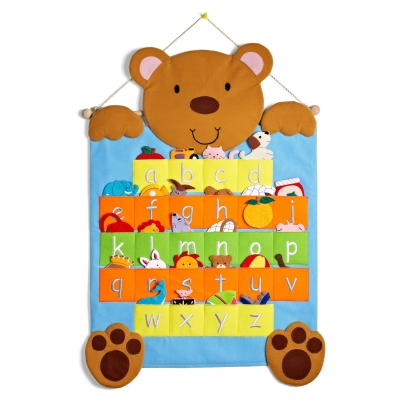Teddy abc chart with 26 finger puppets