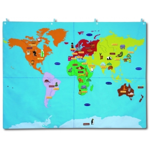 Fabric world map - small