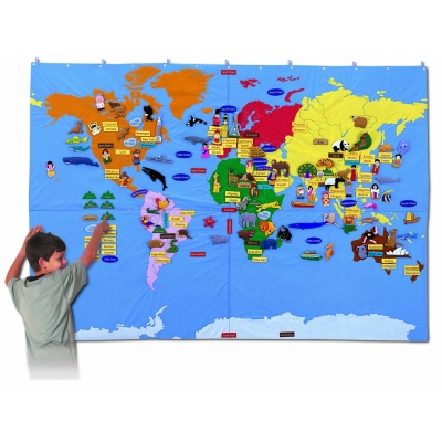Fabric World Map - Giant size