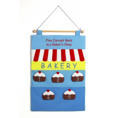 Five Currant Buns in the Bakers Shop wallchart