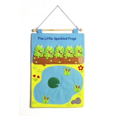 Five Little Speckled Frogs fabric wallchart