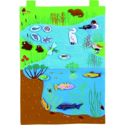Water Habitat fabric wallchart