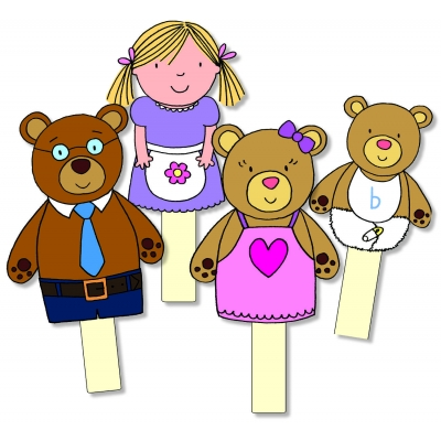 Goldilocks & the Three Bears Storysticks