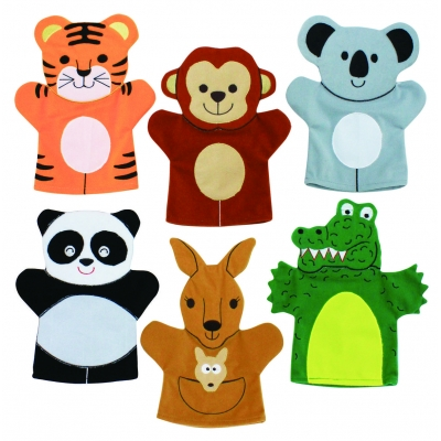 Wild Animals hand puppets - Set 2