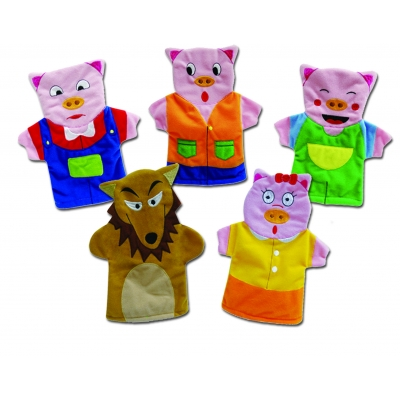 Three Pigs hand puppets