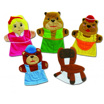 Goldilocks & the Three Bears hand puppets