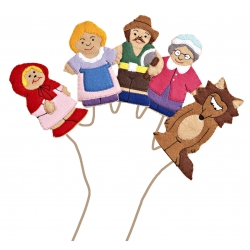 Red Riding Hood Finger Puppets Set