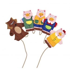 Three Pigs finger puppets