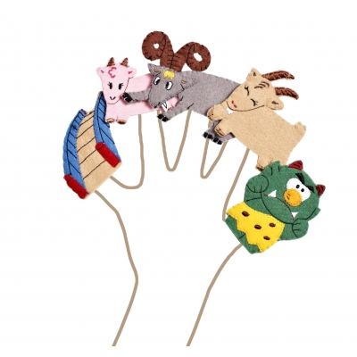 Billy Goats Gruff finger puppets