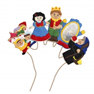 Snow White finger puppets