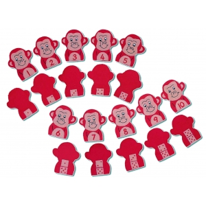 Monkey number puppets