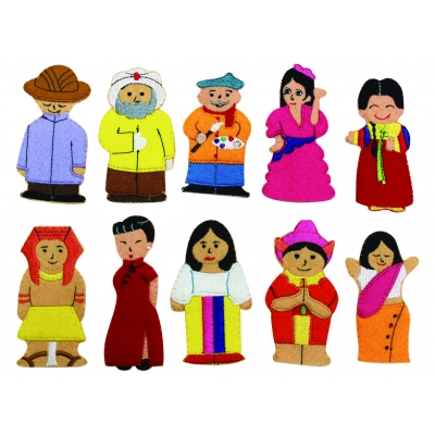 People of the World finger puppets - Set 1