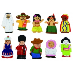 People of the World finger puppets - Set 2
