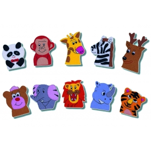 Wild Animals finger puppets